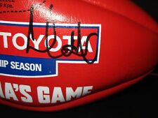 Hawthorn - Leigh Matthews signed Red Sherrin Football - Red - AFL/Toyota