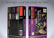 CASTLEVANIA VAMPIRE'S KISS. PAL VERSION. Box/Case. Super Nintendo. (NO GAME)