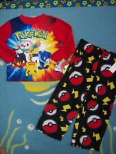Pokemon Pajamas Sleepwear 2pc Set Boys Fleece Nintendo Pokeball Pikachu & Co