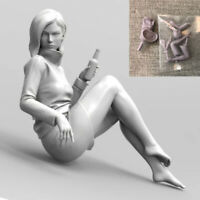 Unpainted 1/35 Girl In Action Sanaa Resin Figure Model Kit Garage Unassembled
