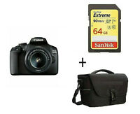 EOS 2000D EF-S 18-55 mm f/3.5-5.6 IS II Lens + 64GB Card+Case /Stock in UK