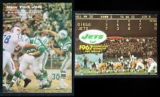 New York Jets 1966 & 1967 Team Yearbooks Joe Namath on Cover! VG+ Condition
