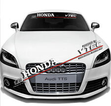 Car Front Rear Windshield Window Banner Reflective Decal Sticker For HONDA VTEC