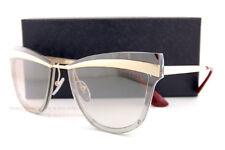 Brand New Prada Sunglasses PR 12US KNG 4O0 Gold Brown/Brown Silver Mirror