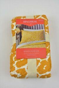 Target Opalhouse Pillow Sham Leopard Medallion Stitch  Saffron Yellow
