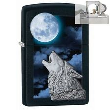 Zippo 28879 wolf howling at moon Lighter with PIPE INSERT PL