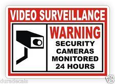 6x Home or Business Security Stickers Label Decal Window Door Video Surveillance