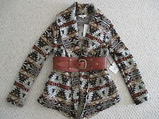 JACK by BB DAKOTA Aztec Jacket Size M Browns  NWT