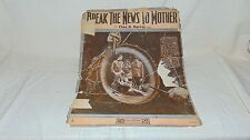 VINTAGE SHEET MUSIC 1897 BREAK THE NEWS TO MOTHER BY CHAS K HARRIS