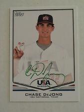 2011 Topps USA Baseball Chase DeJong Toronto Blue Jays Auto 1/1
