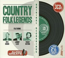 COUNTRY FOLK LEGENDS - 3 CD BOX SET - PETE SEEGER * JOHNNY CASH & WOODY GUTHRIE