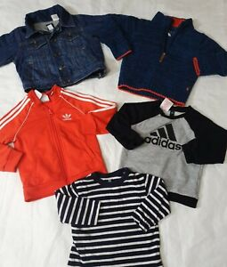 12 18 months boys bundle adidas GAP joules jumper tops (R)