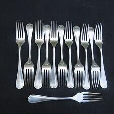 CHRISTOFLE 12 tenedores de pescado metal chapado en plata modelo conchas berain