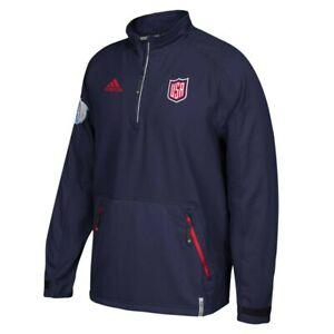USA World Cup of Hockey NHL Adidas Men's 2016 Climalite Navy Blue Jacket