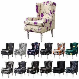 1 Set Wing Chair Covers Slipcovers Wingback Cushion Cover Home Chair Protector