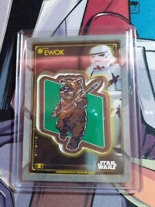 2020 Topps Star Wars Holocron Commemorative Creature Ewok Patch Card UK SELLER