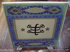 "Baha'i ""Ringstone"" symbol on ceramic 15 cm,5.9' made in Haifa, Bahai gift"