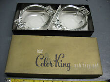 COLOR KING ASH TRAY SET  FEDERAL GLASS COLUMBUS OHIO MIB