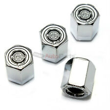 4 Chrysler Silver Logo Chrome ABS Tire/Wheel Pressure Air Stem Valve CAPS Covers