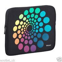 "15 inch/15.4"" Laptop Skin Sleeve Notebook Case by Targus Black Spectrum Circles"