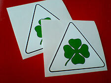 CLOVERLEAF Car Wing Toolbox four leaf clover Stickers Decals 2 off 90mm