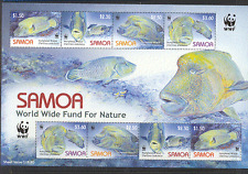 Samoa 2006 WWF/Fish/Humphead Wrasse/Marine/Nature/Wildlife  8v m/s (n16267)
