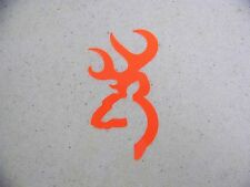 Browning Style Blaze Orange Buck  Hunting Sticker Decal   Whitetail Deer