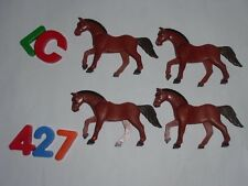 LOTE PLAYMOBIL, CABALLOS, CHEVAUX, HORSEX, NORDISTAS, MEDIEVAL,MODERNO, LOTE 427