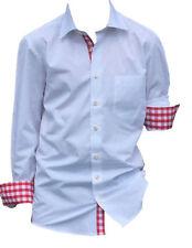 Karierte figurbetonte Schlanke-Größen Herren-Freizeithemden & -Shirts