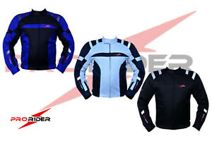 Pro-rider  Mens Motorbike Jacket with Protective  Removal Lining Armored