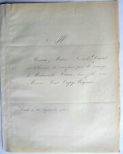DANEL Fair Part Mariage Melle Louise & Mr Paul CREPY  1863 genealogie