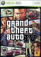 Grand Theft Auto lV Microsoft Xbox 360 GTA 4 WITH CASE & MAP