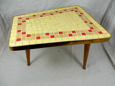 Original 50´s Design Mosaik Beistell Tisch / mosaic  table side table 26 cm