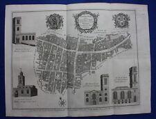 Original antique London map LANGBORN WARD & CANDLEWICK WARD, Cole, Maitland 1756