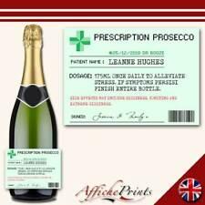 L134 Personalised Prescription Medicine Prosecco Custom Bottle Label Great Gift