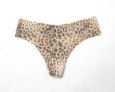 eca4e59d3 Victoria s Secret No Show Seamless Thong Panty Size S Leopard Print Nude