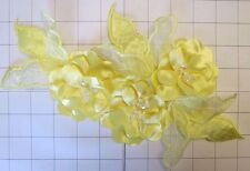 """Larg Yellow 3-D Satin Flower Applique 12"""" by 7"""""""