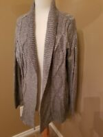 APT. 9 Women's gray open front cardigan sweater size M NWT