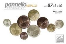 QUADRO METALLO PANNELLO DECORATIVO 87*40 CM MODERNO ORO RAME BRONZO CRM 775529