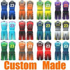 Custom Sublimated Basketball Uniforms Singlets & Shorts Mens Ladies Kids 171
