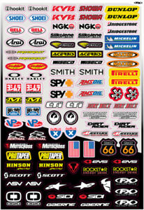 Decal Sponsor Sticker Kit - Micro Kit Motocross MX Factory Effex # 10-68014