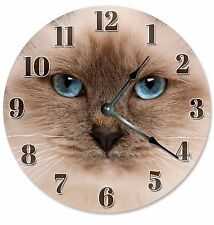 "HIMALAYAN CAT Clock - Large 10.5"" Wall Clock - 2103"