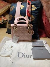 Christian Dior Couture Lady Mini Lambskin 2Way Hand Shoulder Bag (Limited)