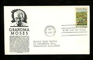 US FDC #1370 Anderson M-1 1960 Washington DC Grandma Moses Baseball