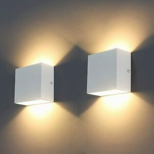 Led Lights 2pcs Indoor Modern Wash Lighting 6w Wall Sconce 3000k Material Colour