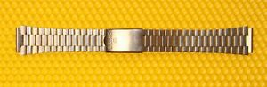 """18mm SEIKO """"Z1159"""" Silver-Tone Stainless Steel Metal Watch Band MADE🇯🇵JAPAN"""