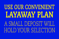 "USE OUR CONVENIENT LAYAWAY PLAN 12""x8"" BUSINESS STORE RETAIL COUNTER SIGN"
