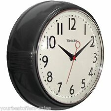 Westclox Retro Kitchen Wall Clock Kitchen Vintage Wall Clock Black Home Decor