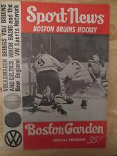 Boston 1965 BRUINS Program vs CHICAGO BLACK HAWKS Bobby Hull PHIL ESPOSITO Hall