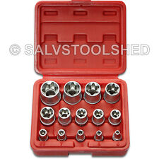 Star Socket Set 14pcs Torx Torq Torque Bits External Female E4 to E24 Heavy Duty